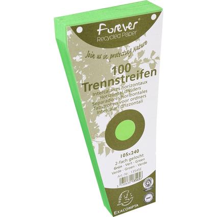 EXACOMPTA Trennstreifen, trapezförmig, Karton, grün