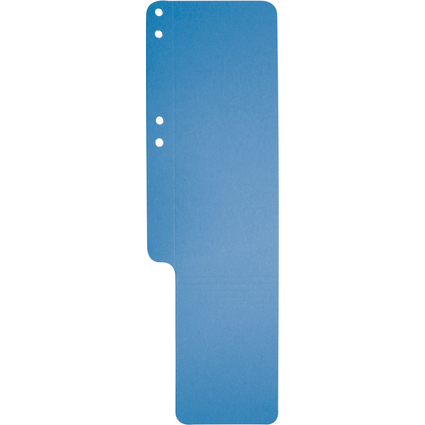 EXACOMPTA Aktenschwänze, Karton, 100 Stück, blau