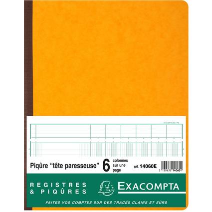 EXACOMPTA Geschäftsbuch mit Kopfleiste, 6 Spalten je Seite