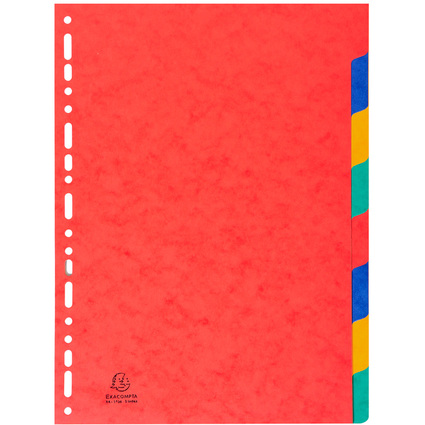 EXACOMPTA Karton-Register, DIN A4, 8-teilig