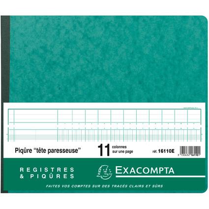 EXACOMPTA Geschäftsbuch mit kopfleiste, 11 Spalten je Seite