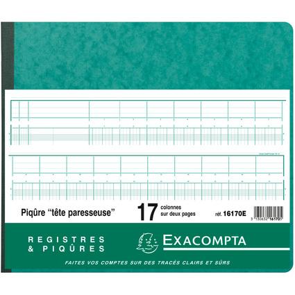 EXACOMPTA Geschäftsbuch mit Kopfleiste, 17 Spalten
