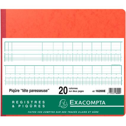 EXACOMPTA Geschäftsbuch mit Kopfleiste, 20 Spalten