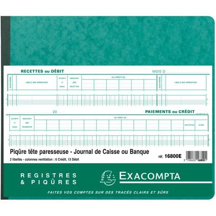 """EXACOMPTA Spaltenbuch """"2 libellés"""", 20 Spalten auf"""
