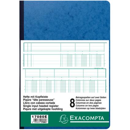 EXACOMPTA Spaltenbuch DIN A4, 8 Spalten auf 2 Seiten
