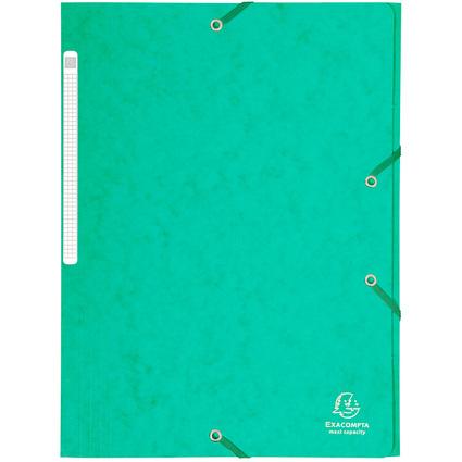 EXACOMPTA Eckspannermappe, DIN A4, Karton, grün