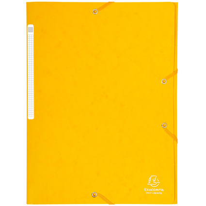 EXACOMPTA Eckspannermappe, DIN A4, Karton, gelb