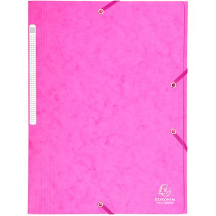 EXACOMPTA Eckspannermappe, DIN A4, Karton, rosa