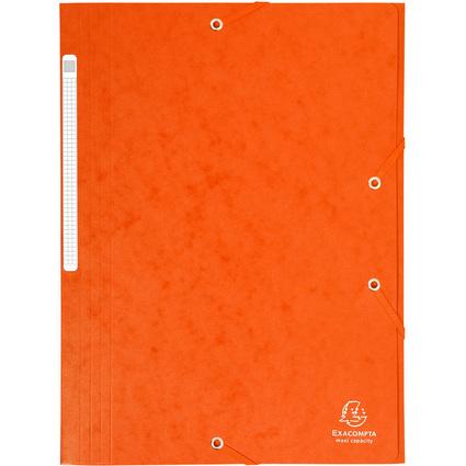 EXACOMPTA Eckspannermappe, DIN A4, Karton, orange