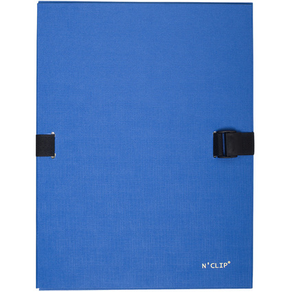 EXACOMPTA Dokumentenmappe N'CLIP, DIN A4, blau