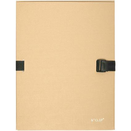 EXACOMPTA Dokumentenmappe N'CLIP, DIN A4, beige