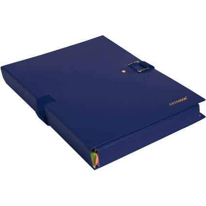 EXACOMPTA Dokumentenmappe EXTENSOR, DIN A4, blau