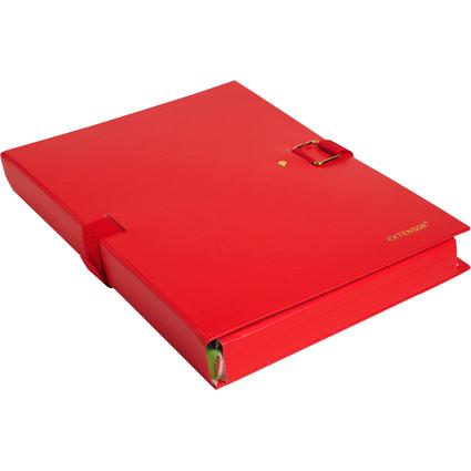 EXACOMPTA Dokumentenmappe EXTENSOR, DIN A4, rot