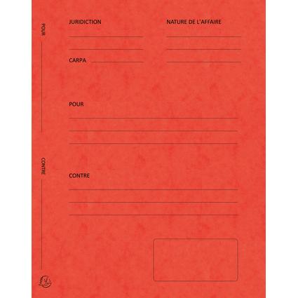 """EXACOMPTA Dossiers de plaidoirie """"Pour / Contre"""", rouge"""