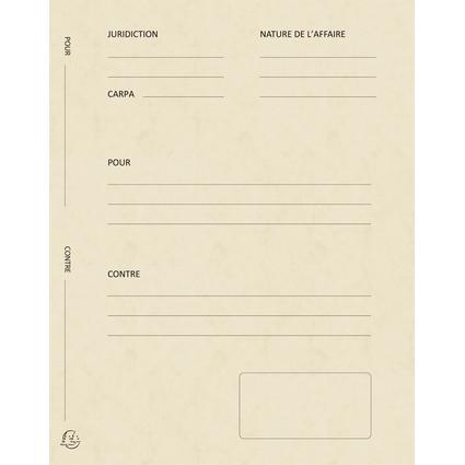 """EXACOMPTA Dossiers de plaidoirie """"Pour / Contre"""", ivoire"""