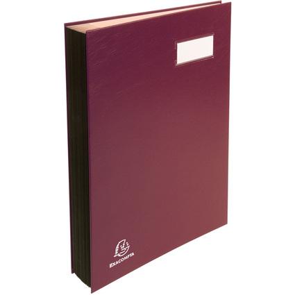EXACOMPTA Unterschriftenmappe, DIN A4, 18 Fächer, bordeaux