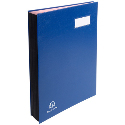 EXACOMPTA Unterschriftenmappe, DIN A4, 24 Fächer, blau