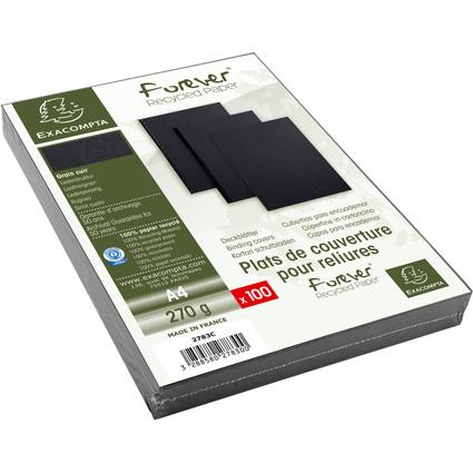 EXACOMPTA Einbanddeckel EVERCOVER, DIN A4, schwarz