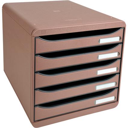 EXACOMPTA Schubladenbox BIG-BOX PLUS, 5 Schübe, cappuccino