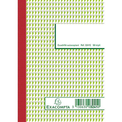 "EXACOMPTA Manifold ""Quadrillé"", 148 x 105 mm, tripli"