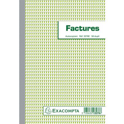 "EXACOMPTA Manifold ""Factures"", 210 x 148 mm, dupli"