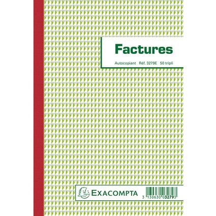 "EXACOMPTA Manifold ""Factures"", 210 x 148 mm, tripli"