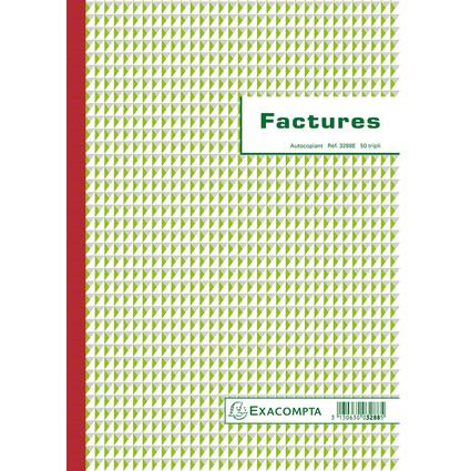 "EXACOMPTA Manifold ""Factures"", 297 x 210 mm, tripli"