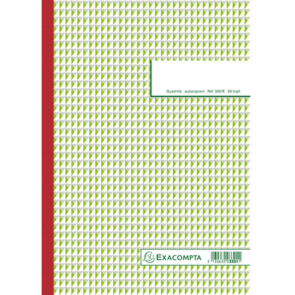 "EXACOMPTA Manifold ""Quadrillé"", 297 x 210 mm, tripli"