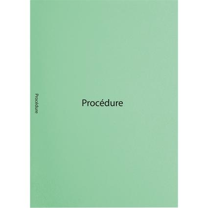 """EXACOMPTA Sous-cotes de dossiers imprimées """"Procédure"""", vert"""