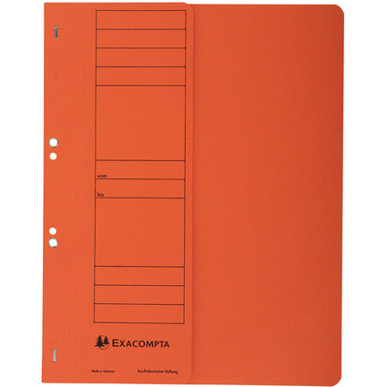 EXACOMPTA Ösenhefter Forever, halber Deckel, orange