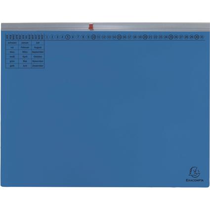 EXACOMPTA Hängehefter Exaflex Premium, 1x links, blau