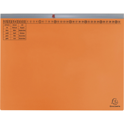EXACOMPTA Hängehefter Exaflex Premium, 1x links, orange
