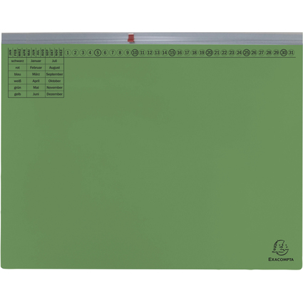 EXACOMPTA Hängehefter Exaflex Premium, 1x links, grün