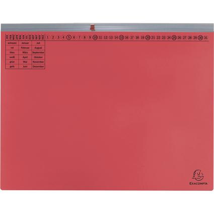 EXACOMPTA Hängehefter Exaflex Premium, 1x rechts, rot
