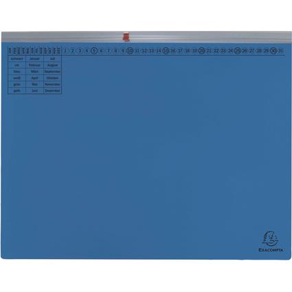 EXACOMPTA Hängehefter Exaflex Premium, 1x rechts, blau