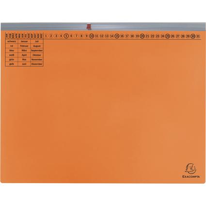 EXACOMPTA Hängehefter Exaflex Premium, 1x rechts, orange