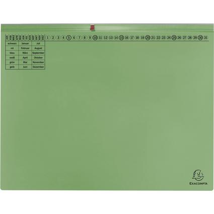 EXACOMPTA Hängehefter Exaflex Premium, 1x rechts, grün
