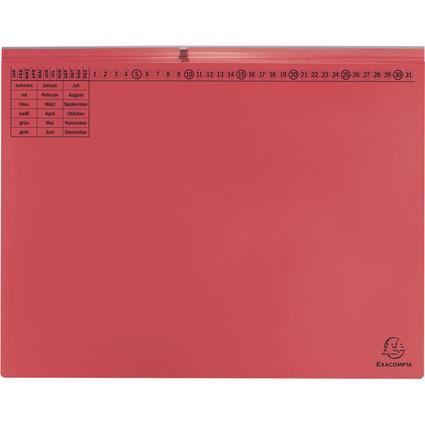 EXACOMPTA Hängehefter Exaflex Premium, 2x links, rot