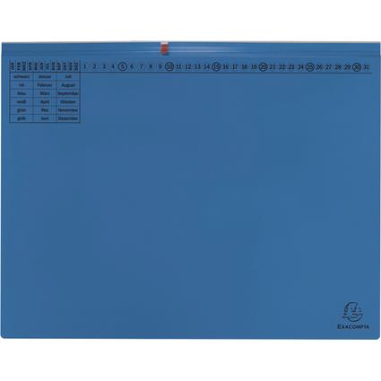 EXACOMPTA Hängehefter Exaflex Premium, 2x links, blau