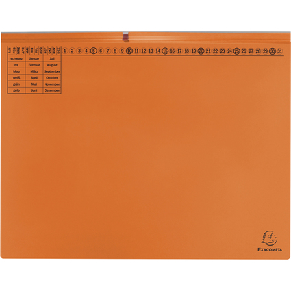EXACOMPTA Hängehefter Exaflex Premium, 2x links, orange