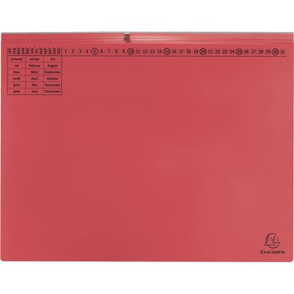 EXACOMPTA Hängehefter Exaflex Premium, 2x rechts, rot