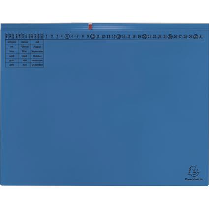 EXACOMPTA Hängehefter Exaflex Premium, 2x rechts, blau