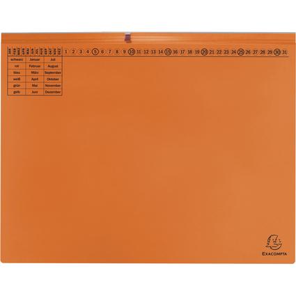 EXACOMPTA Hängehefter Exaflex Premium, 2x rechts, orange