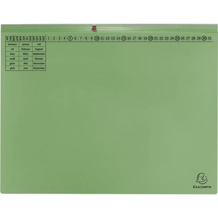 EXACOMPTA Hängehefter Exaflex Premium, 2x rechts, grün