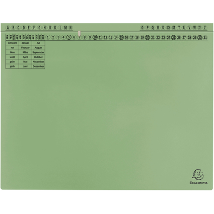 EXACOMPTA Hängehefter Exaflex Standard, grün