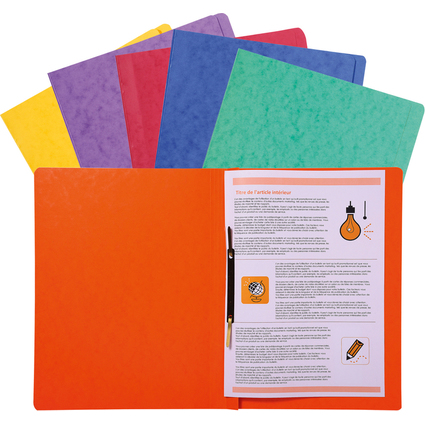 EXACOMPTA Schnellhefter, DIN A4, Karton, farbig sortiert