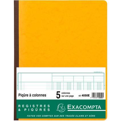 EXACOMPTA Piqûre à colonnes, 5 colonnes, 31 lignes