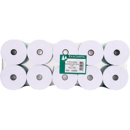 EXACOMPTA Kassenrollen, 74 mm x 44 m x 12 mm, extra weiß