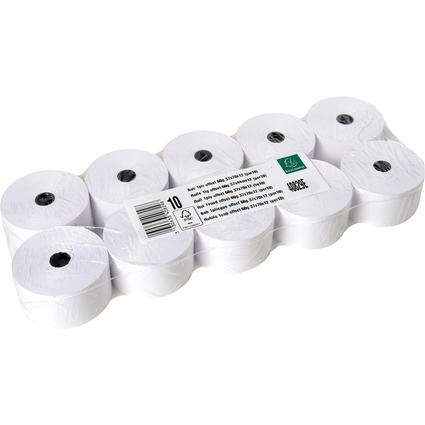 EXACOMPTA Kassenrollen, 37 mm x 44 m x 12 mm, extra weiß