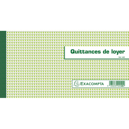 "EXACOMPTA Carnet à souche ""Quittances de loyer"""
